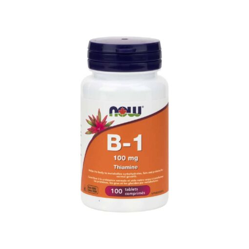 B-1 100 mg Tablets Now Foods