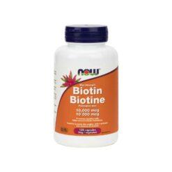 Biotin 10,000 mcg Veg Capsules Now Foods