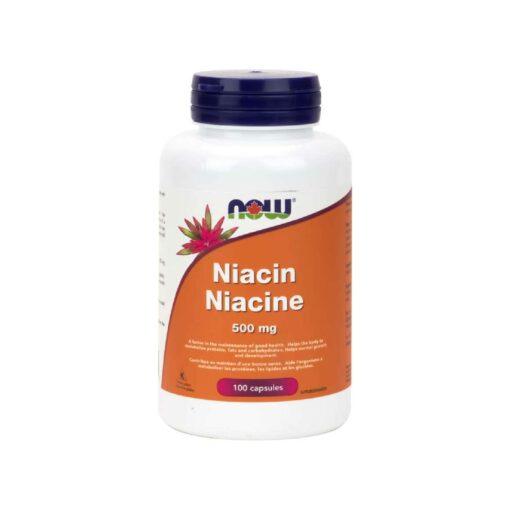 Niacin 500 mg Capsules Now foods